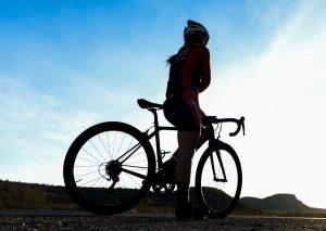 femme vélo